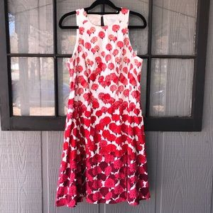 New York & Co. dress,  varied shades of red